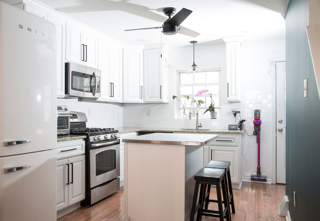Re-finished MDF kitchen cabinets